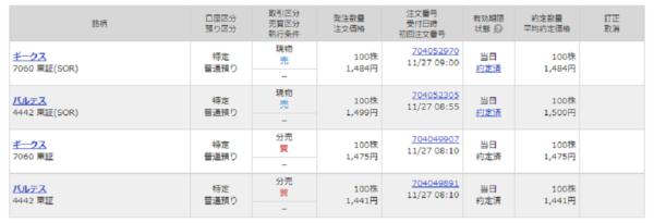 11/27の分売